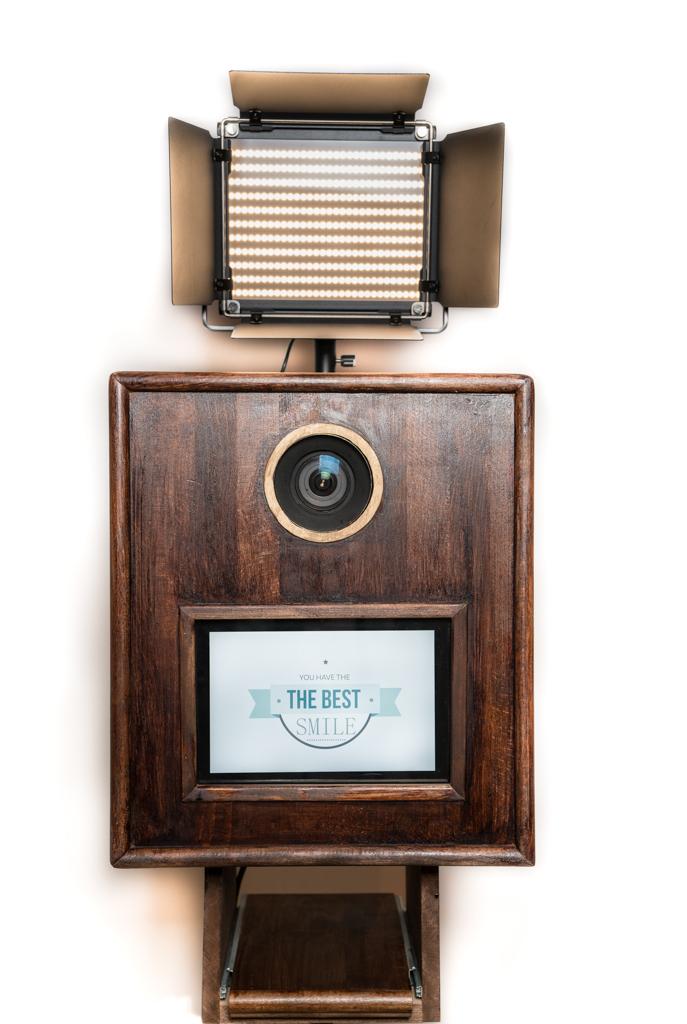 Retro Fotobox handgemacht aus Holz