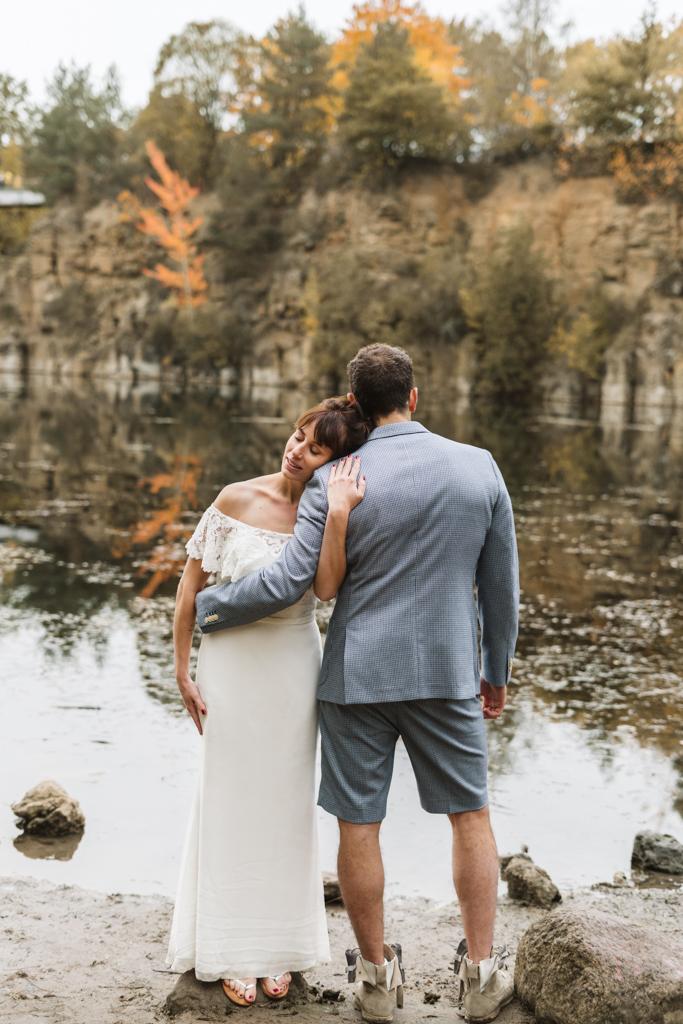 Brautpaarbilder am Grünen See mit einem wunderschönen Brautpaar.