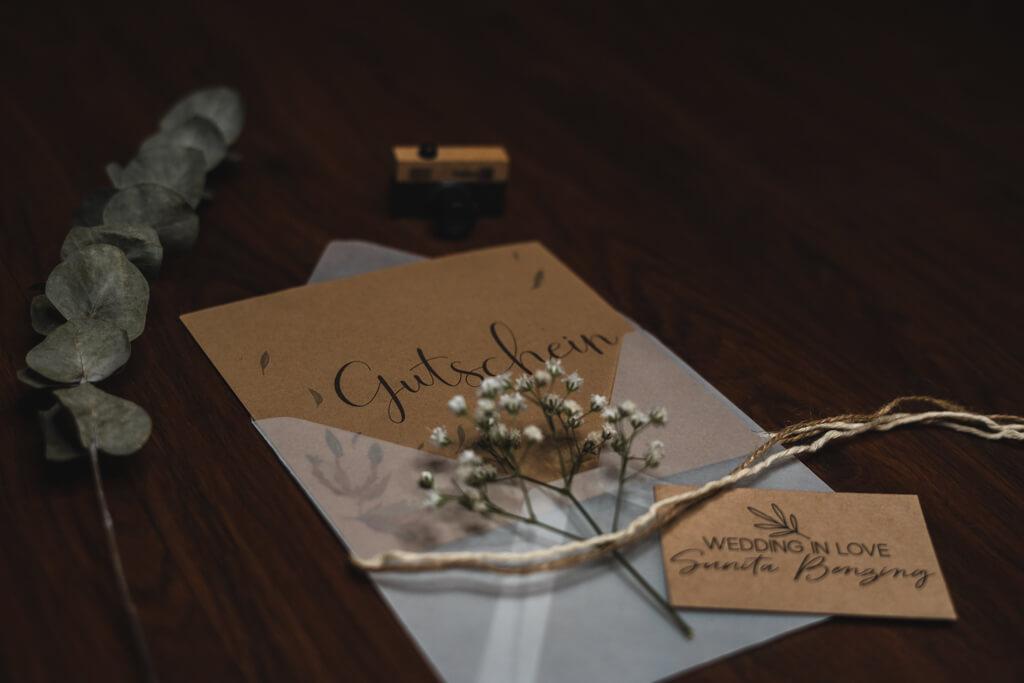 Fotogutschein beim Fotografen Wedding in Love Sunita Benzing.